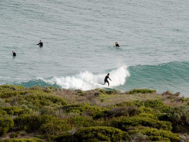 Surfers were back in the water this afternoon. Picture: Greg Higgs