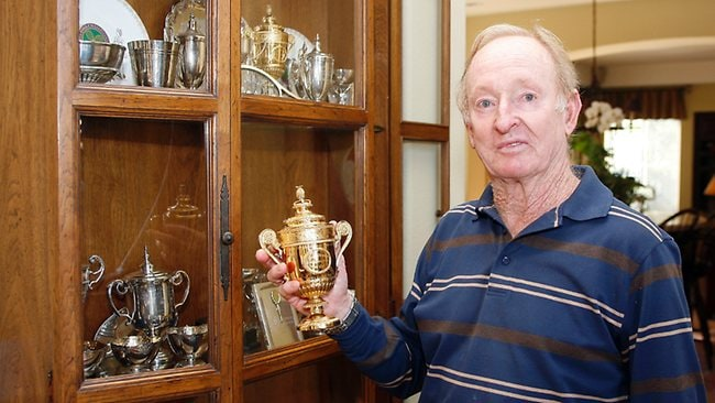 06/01/2009. Australian tennis legend Rod Laver at his home in Carlsbad, California.
