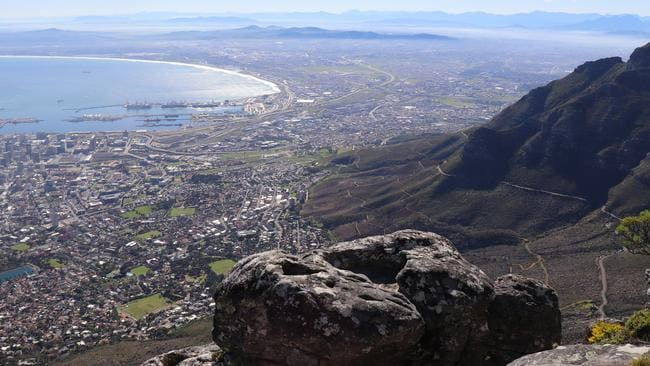 Looks can be deceiving on Table Mountain in Cape Town, South Africa. Picture: Megan Palin.