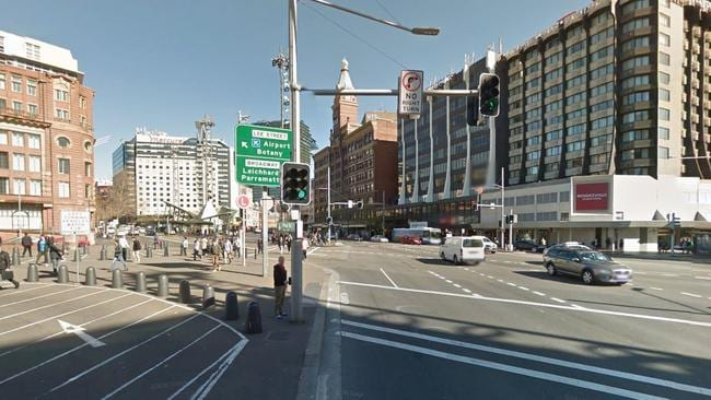 The fight spilled out onto Lee Street (above left) where Franklin Elmes charged at and kicked James McDonald on the ground. Picture: Google.