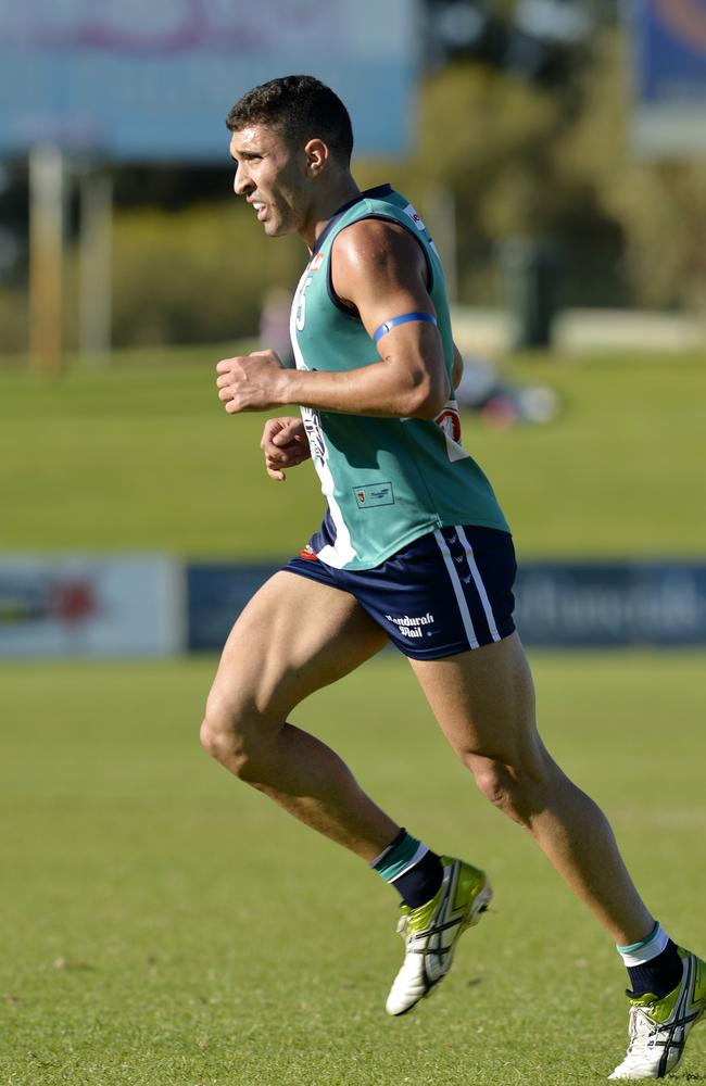 Docker Anthony Morabito in action for Peel Thunder. Picture: PerthNow