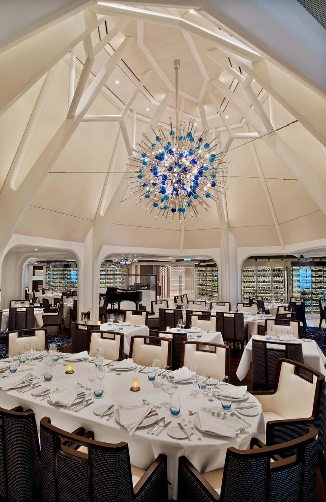 The Restaurant, Seabourn Encore cruise ship.
