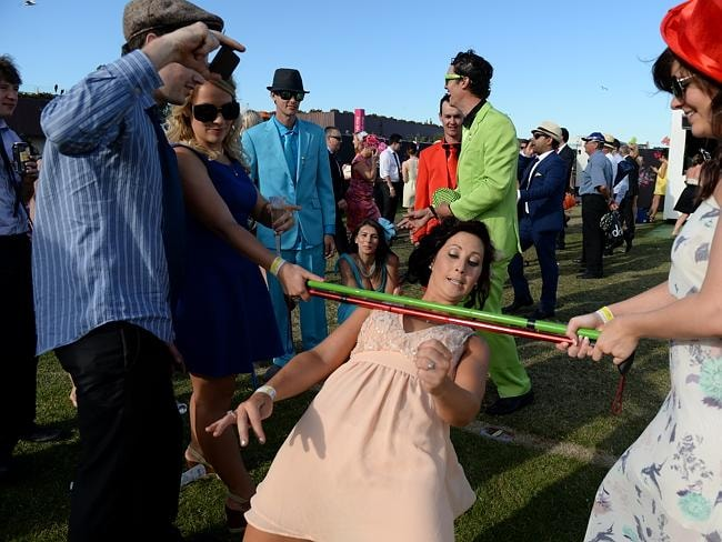 A day at the races is never complete, without a spot of limbo. Picture: AAP