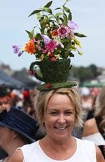 Nicole Walter at Melbourne Cup Day at Flemington Racecourse in Melbourne, Tuesday, Nov. 3, 2015. Picture: AAP Image/David Crosling