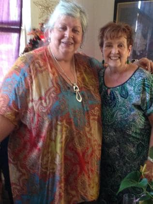 Louise (left) was obese before her cancer diagnosis.