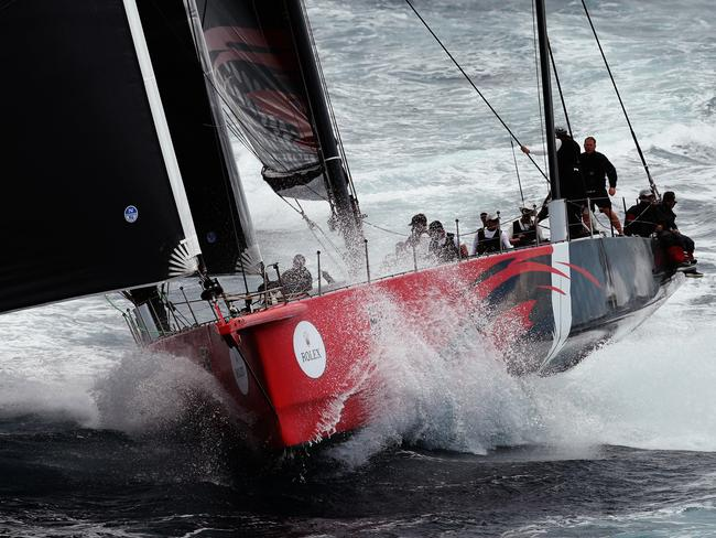 Comanche during the 2015 Sydney to Hobart.. Pic Brett Costello