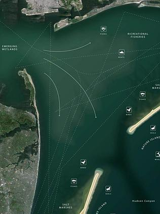 Public works ... the Blue Dunes project would stretch from Long Island to the southern ti