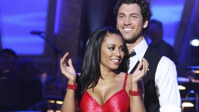Contestant and former Spice Girls singer Melanie Brown  with her dance partner Maksim Chmerkovskiy following