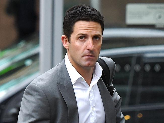 Jamie Whincup arrives at the County Court to contest his Bathurst penalty.