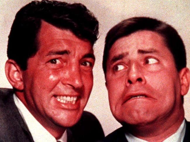 Jerry Lewis (right) was best known for his movies with Dean Martin in the 1950s. Picture: Supplied