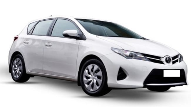 A Toyota similar to a car police believe is linked to the shooting. Picture: Victoria Police