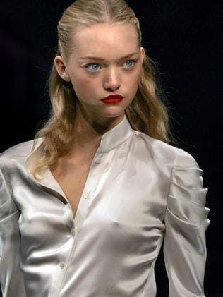 Gemma Ward models for Valentino in 2005.