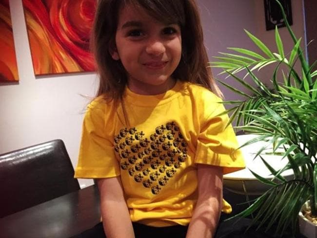 Mia, six, was diagnosed late because she had excellent language.