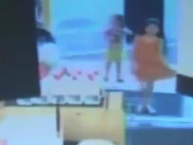 Cherish Perrywinkle walks into the Walmart store with her family. Picture: Screenshot/CBS 47 FOX 30 News
