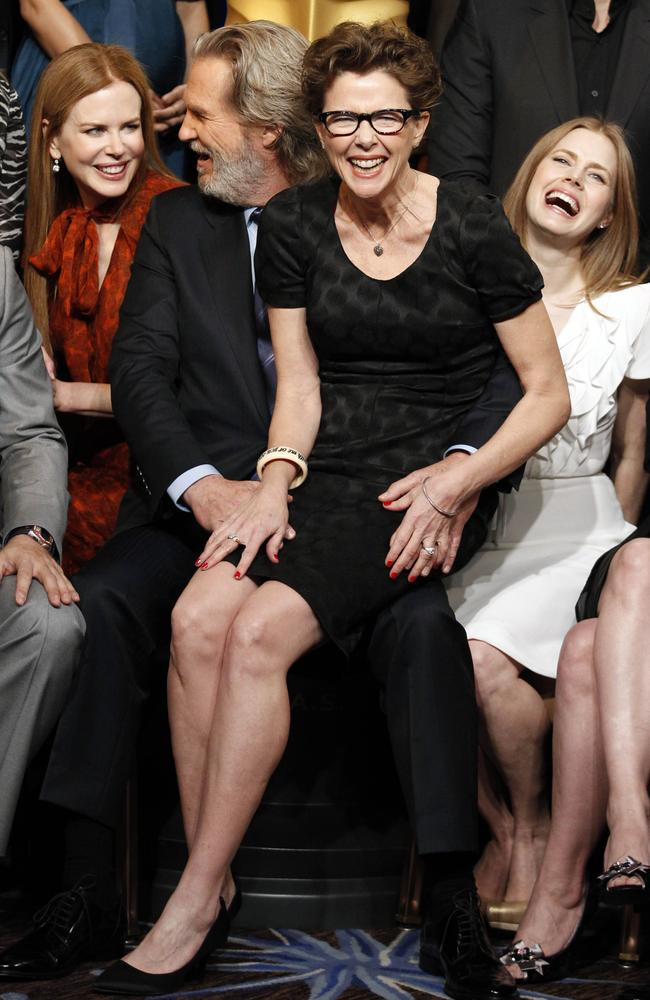 Better days ... Nicole Kidman, left, Jeff Bridges, Annette Bening and Amy Adams pose for a group picture at the 30th Academy Awards Nominees Luncheon in 2011.
