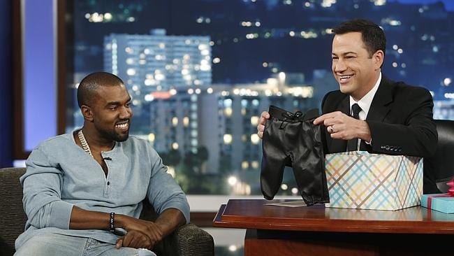 Kayne and Jimmy Kimmel eventually made up. Photo: Getty
