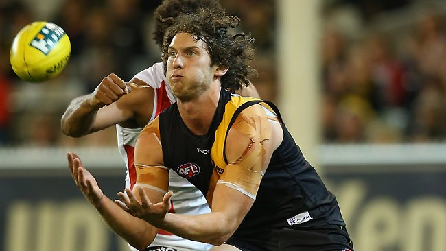 Richmond forward Tyrone Vickery took 11 marks against St Kilda. Picture: Getty