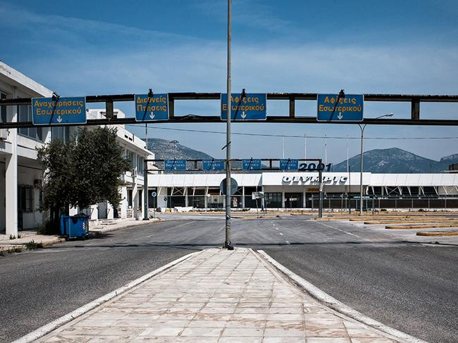 The surrounds of the airport are also abandoned. Picture: Vassilis Makris
