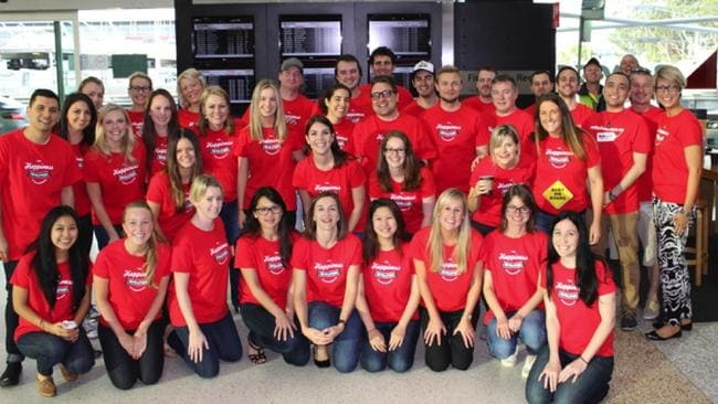 We're not sure about the matching t-shirts, but RedBalloon staff say they love working for the company.