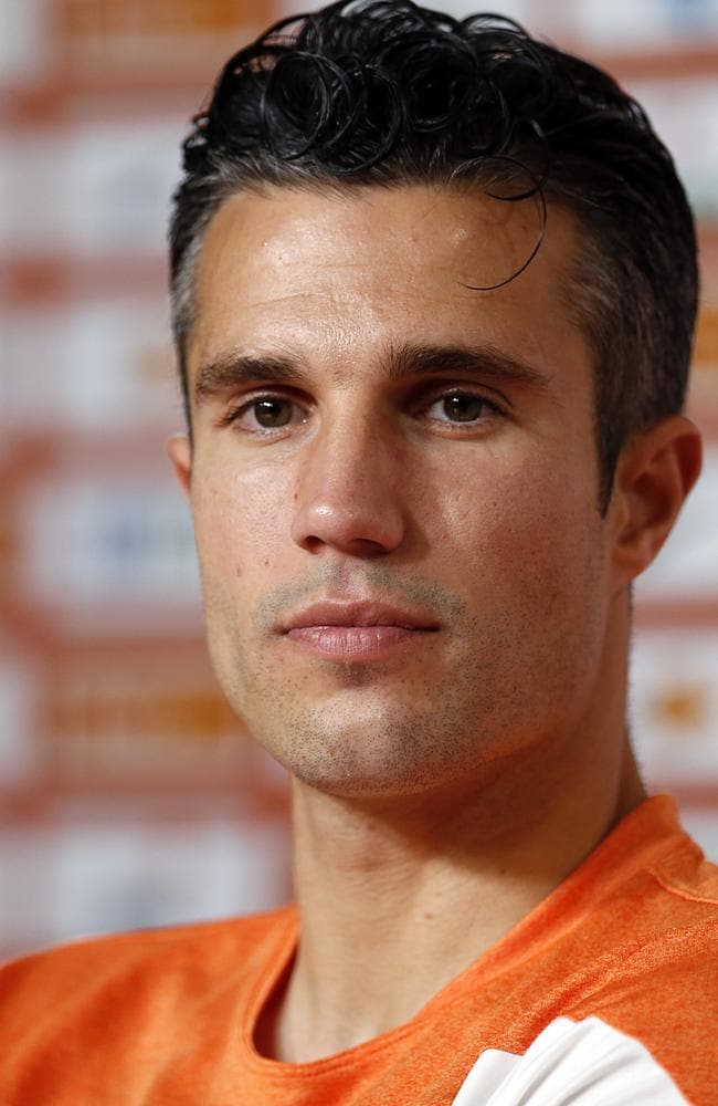 Robin van Persie missed the game against Chile this morning.