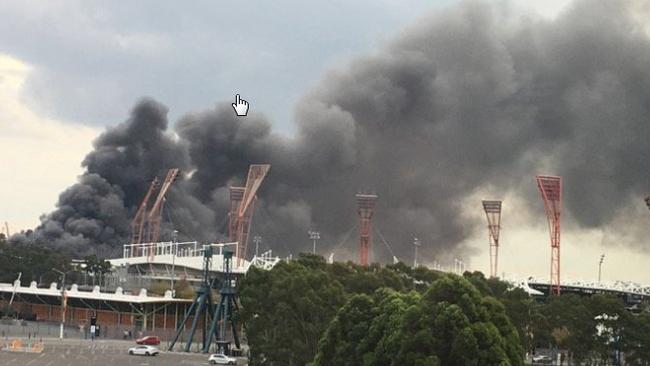 A Large Fire Has Broken Out At Sydney Olympic ParkSourceTwitter