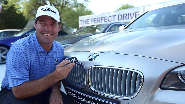 Tournament organisers have rewarded Keith Horne with a BMW after he scored his second hole-in-one on the 12th hole. Picture:Getty Images