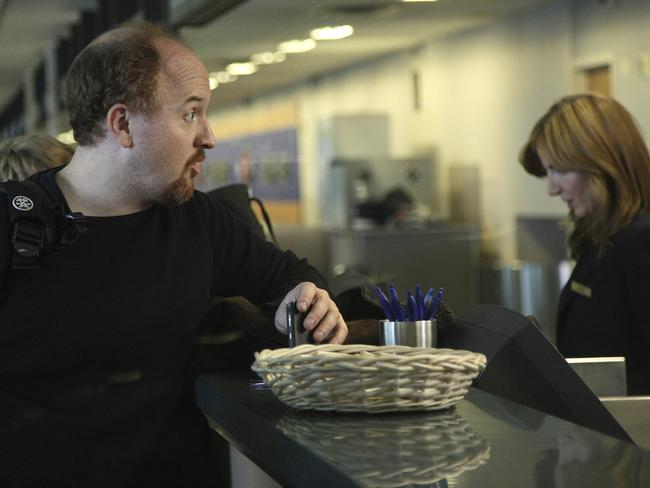 Comedian Louis C.K. featured in an episode from his TV program Louie. Picture: Supplied