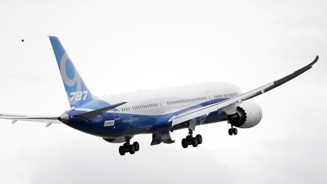 The new version of the Dreamliner also can carry more cargo and fly further. Picture: AP