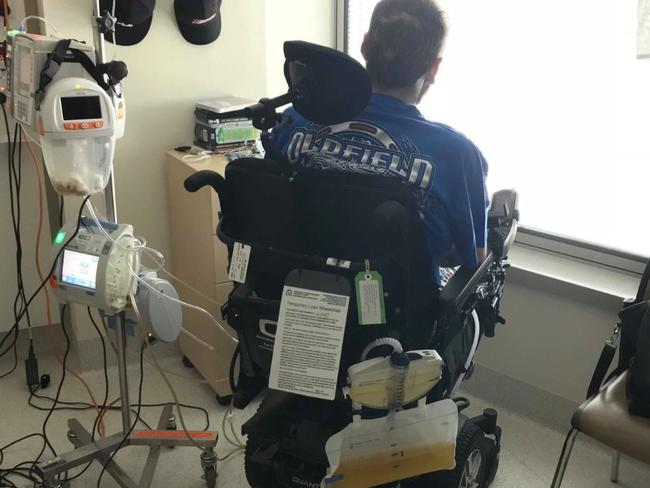 Jake Clift will need a new vehicle to accommodate his wheelchair. Picture: Gofundme