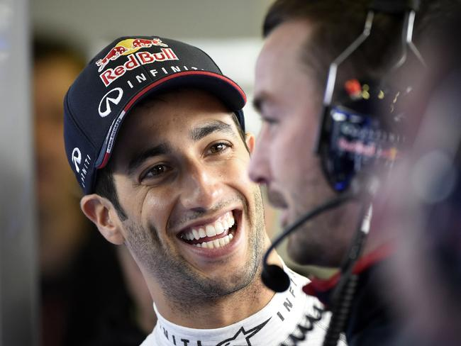Ricciardo still managed a smile on a tough day.