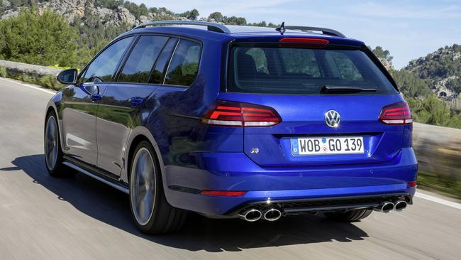 The Golf R wagon has almost twice as much load space as the hatch. Picture: Supplied.
