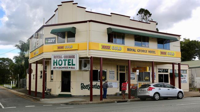 The Royal George Hotel in Rosewood, where Pauline Hanson stopped during her campaign. Picture: Madison Davies