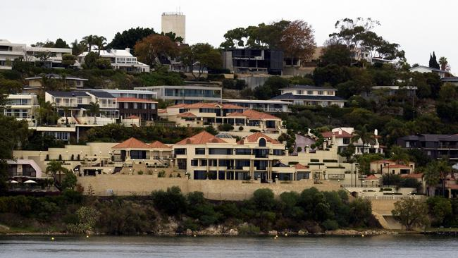 The Australian house price record sits at $57.5 million for this Perth home, which sold in 2009. Picture: Stewart Allan