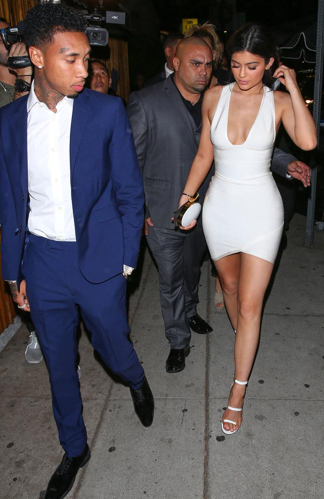 Couple ... Tyga reportedly began dating Kylie Jenner before her 18th birthday. Picture: AKM-GSI/Splash News