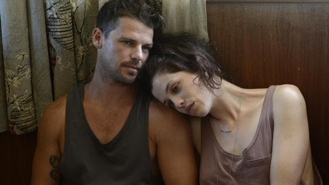 Phillips with Jessica De Gouw in a scene from  <i>These Final Hours</i>.