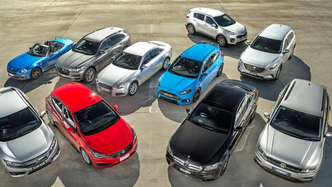 Quality field: The 10 finalists from this year's Carsguide Car of the Year.