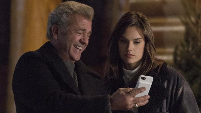 Mel Gibson and Alessandra Ambrosio in Daddy's Home 2.