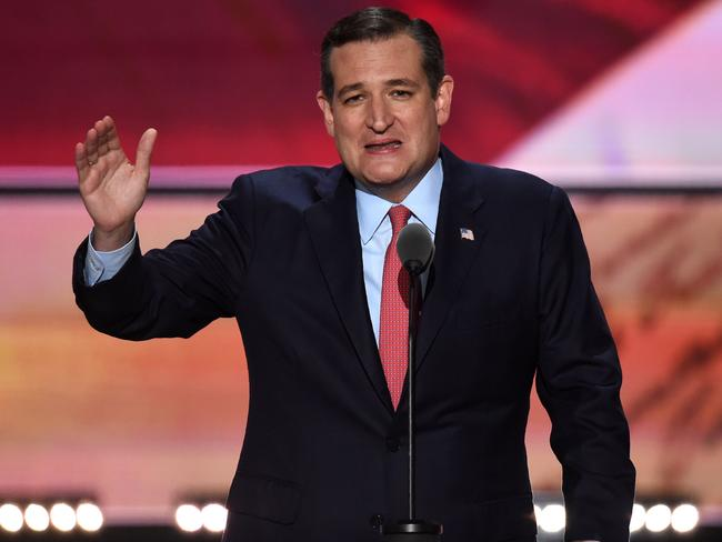 Twitter users noted US Senator Ted Cruz's official account liked a hardcore porn link. Picture: AFP