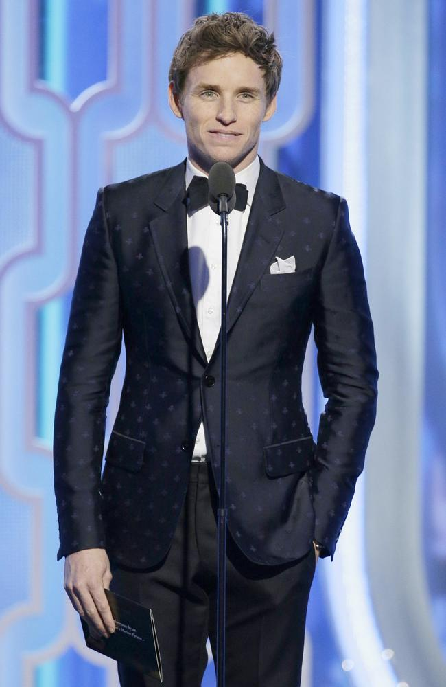 Presenter Eddie Redmayne speaks during the 73rd Annual Golden Globe Awards at The Beverly Hilton Hotel on January 10, 2016 in Beverly Hills, California. (Photo by Paul Drinkwater/NBCUniversal via Getty Images)