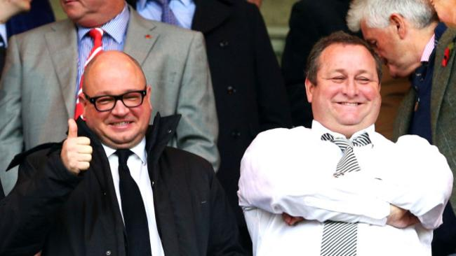 Newcastle United owner Mike Ashley (right) and Managing Director Lee Charnley.