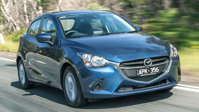 Mazda2: light, nimble, corners well, and steering is sharp.