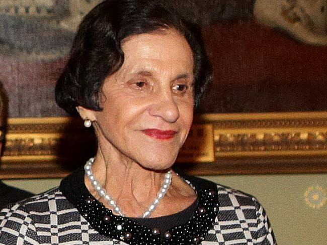 Dame Marie Bashir met the Queen last week to receive her new title. Picture: Stephen Cooper