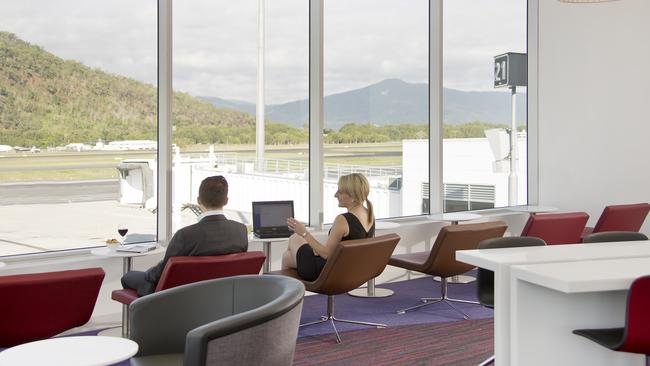 The Virgin Australia lounge at Cairns airport Picture: supplied