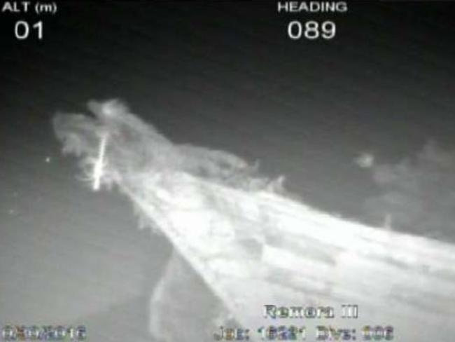 Sonar images of Shipwreck#4, described as a small wooden fishing vessel with damage to the hull. Picture: ATSB