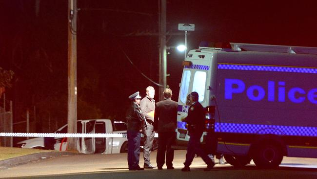 Police at the scene of the shooting in West Gosford / Picture: Mark Scott