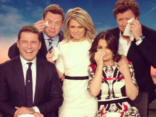 Goodbye: Twitter pic from the Today show of Georgie Gardner leaving the show.