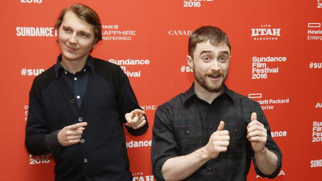 Daniel Radcliffe and Paul Dano seemed upbeat despite the walk-outs.