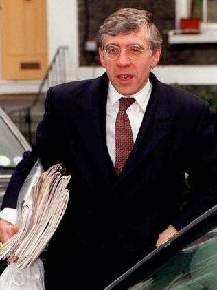 Britain's former Home Secretary Jack Straw. Picture: AP