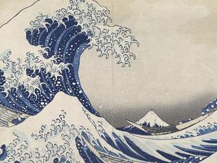 Katsushika HokusaiJapanese 1760–1849The great wave off Kanagawa(The great wave) (Kanagawa oki namiura) (1830–34)from the Thirty-six views of Mt Fuji(Fugaku-sanjū-rokkei) series colour woodblock25.7 × 37.7 cm (image and sheet)National Gallery of Victoria, Melbourne Felton Bequest, 1909 (426-2)