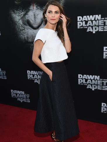 Keri Russell hits the red carpet for the  <i>Dawn of the Planet of the Apes </i>premiere in San Francisco.